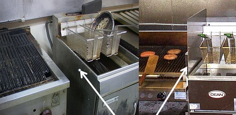 Clearances for Deep Fat Fryer