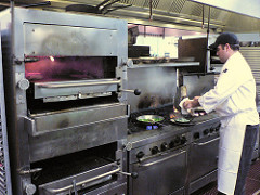 poorly maintained industrial kitchen